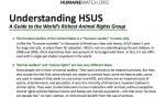 """Handout: """"Understanding HSUS"""""""