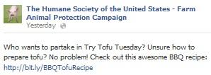 Try Tofu Tuesdays Sm