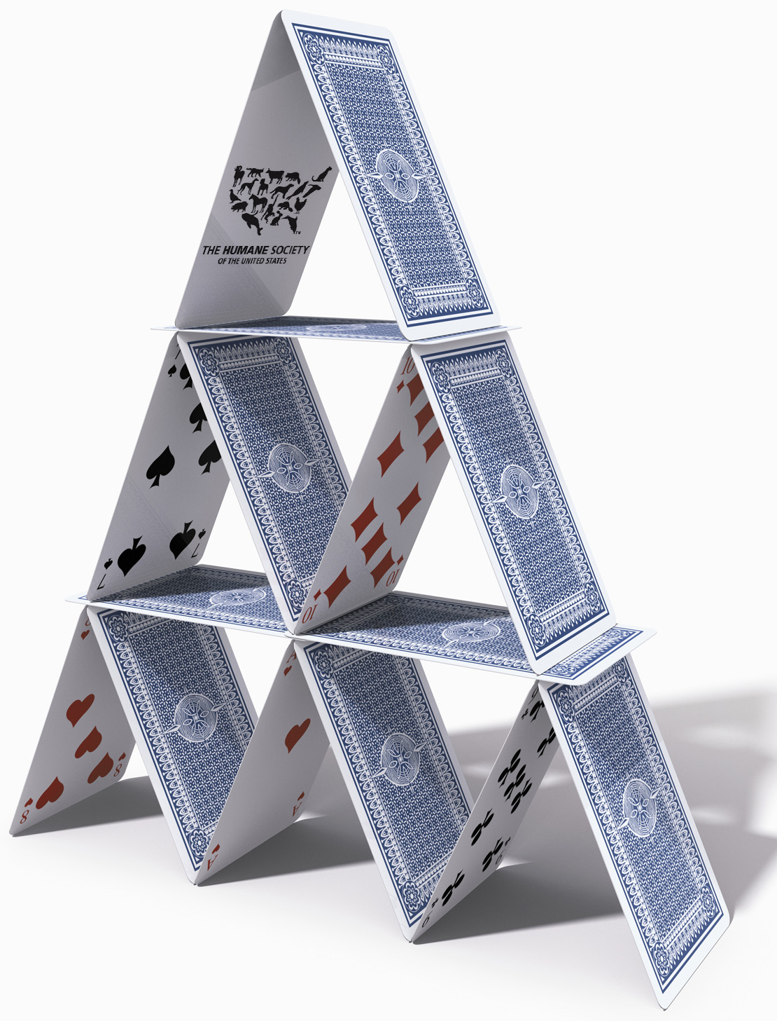 The '11 Million Members' Myth, Again - HumaneWatch House Of Playing Cards