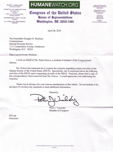 Letter from us rep pete visclosky to irs commissioner douglas letter from us rep pete visclosky to irs commissioner douglas shulman spiritdancerdesigns Choice Image